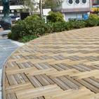 県産木材設置事例 松本駅